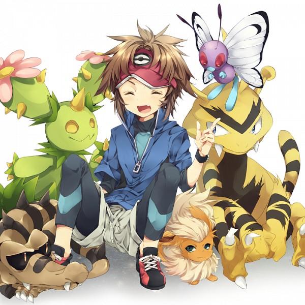 Tags: Anime, Pixiv Id 677337, Black and White 2, Pokémon, Electabuzz, Sandile, Maractus, Kyouhei, Butterfree, Flareon, Pixiv, Fanart, Fanart From Pixiv