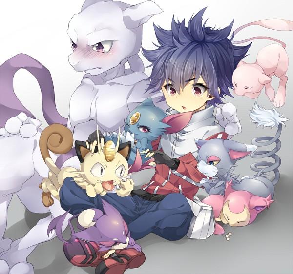 Tags: Anime, Pixiv Id 677337, Pokémon, Skitty, Glameow, Mewtwo, Hue, Mew, Purrloin, Meowth, Sneasel, Fanart, Legendary Pokémon