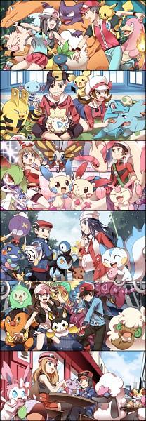 Tags: Anime, Pixiv Id 3250396, Pokémon, Mudkip, Archeops, Kouki (Pokémon), Furfrou, Skitty, Togepi, Emolga, Totodile, Fennekin, Luxio
