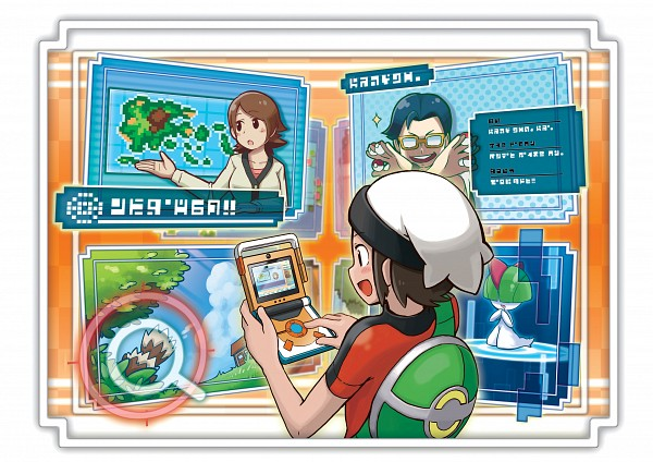 Tags: Anime, Sugimori Ken, Nintendo, GAME FREAK, Pokémon, Zangoose, Yuuki (Pokémon), Ralts, Map, Screenshot, Official Art