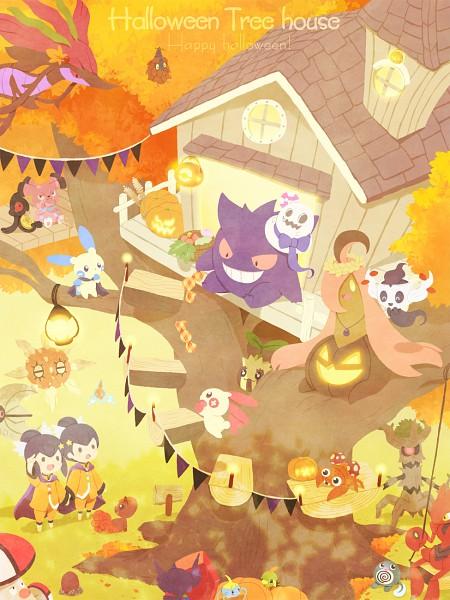 Tags: Anime, Pixiv Id 2584338, Pokémon, Diglett, Sableye, Solrock, Snubbull, Fuu (Pokémon), Dragalge, Sunkern, Paras, Natu, Ran (Pokémon)