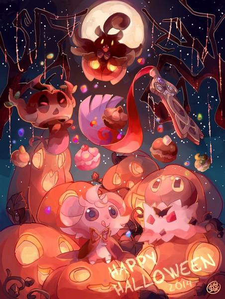 Tags: Anime, Pixiv Id 5960878, Pokémon, Pumpkaboo, Phantump, Espurr, Honedge, Spewpa, Fanart, Fanart From Pixiv, PNG Conversion, Pixiv