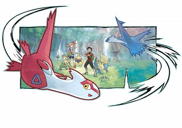 Tags: Anime, Oomura Yusuke, Nintendo, Pokémon, Surskit, Yuuki (Pokémon), Makuhita, Breloom, Haruka (Pokémon), Manectric, Latios, Shuppet, Castform