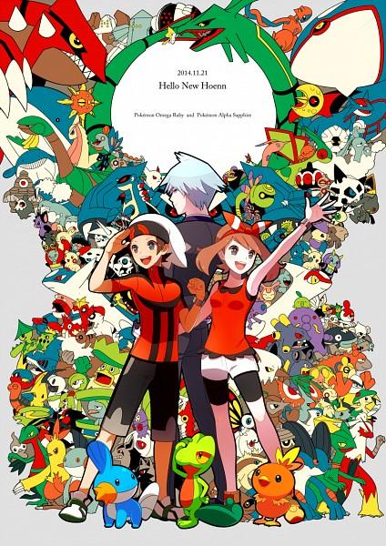Tags: Anime, Pixiv Id 945535, Pokémon, Combusken, Skitty, Manectric, Lileep, Poochyena, Wingull, Medicham, Nuzleaf, Mudkip, Swalot
