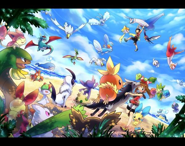 Tags: Anime, Ibui Matsumoto, Pokémon, Mightyena, Latios, Castform, Jirachi, Torchic, Azurill, Corphish, Latias, Zigzagoon, Ralts