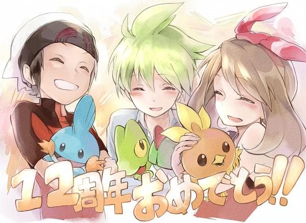Tags: Anime, Pixiv Id 10330151, Pokémon, Yuuki (Pokémon), Mitsuru (Pokémon), Mudkip, Ralts, Haruka (Pokémon), Treecko, Torchic, Fanart, Pixiv, Fanart From Pixiv