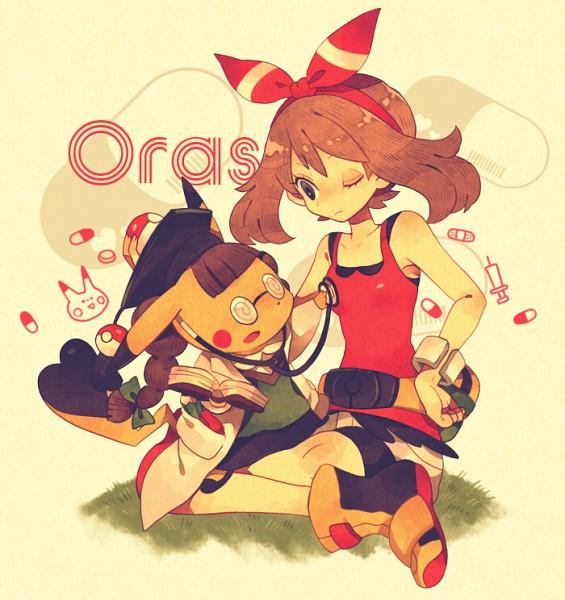 Tags: Anime, Yumenouchi, Pokémon, Pikachu, Haruka (Pokémon), Stethoscope, Pixiv, Fanart From Pixiv, Fanart