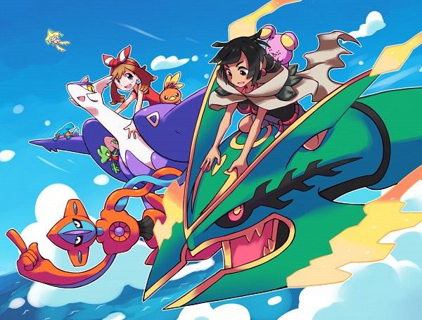 Tags: Anime, Pixiv Id 1077851, Pokémon, Mudkip, Treecko, Higana (Pokémon), Haruka (Pokémon), Whismur, Torchic, Latias, Deoxys, Jirachi, Rayquaza