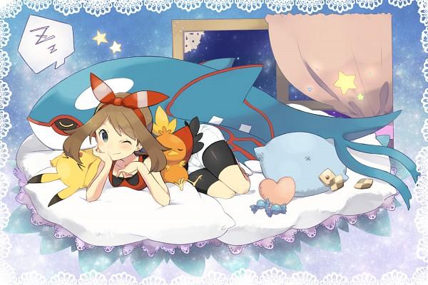 Tags: Anime, Petagon, Pokémon, Pikachu, Torchic, Kyogre, Haruka (Pokémon), Bike Shorts, >O<, Pixiv, Fanart, Fanart From Pixiv, Legendary Pokémon