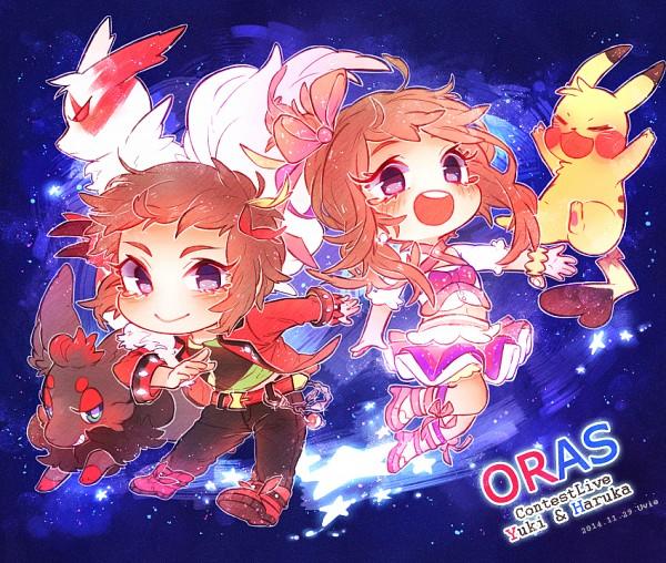 Tags: Anime, Pixiv Id 4861650, Pokémon, Pikachu, Zangoose, Yuuki (Pokémon), Zorua, Haruka (Pokémon), PNG Conversion, Pixiv, Fanart, Fanart From Pixiv