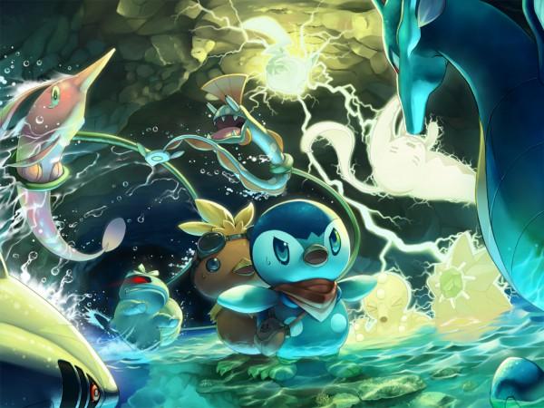Tags: Anime, Tori Otoko, Pokémon, Piplup, Octillery, Torchic, Pikachu, Huntail, Sharpedo, Gorebyss, Bulbasaur, Starmie, Kingdra