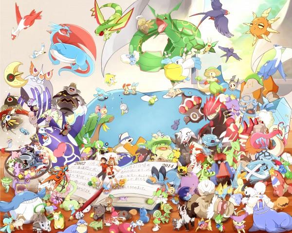 Tags: Anime, Pixiv Id 2347914, Pokémon, Cascoon, Gardevoir, Electrike, Seviper, Hariyama, Shroomish, Rayquaza, Wynaut, Groudon, Swablu