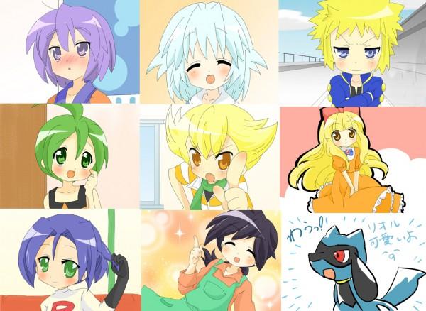 Tags: Anime, Pokémon, Jun (Pokémon), Reiji (Pokémon), Satoko (Pokémon), Denji (Pokémon), Toui Rondot, Kojirou (Pokémon), Satoshi (Pokémon), Riolu, Ryou (Pokémon), Shinji (Pokémon), Wig