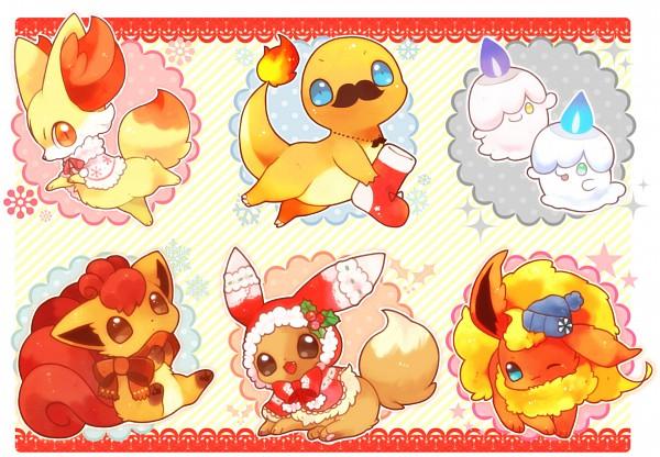 Tags: Anime, Mitiruni, Pokémon, Flareon, Fennekin, Litwick, Charmander, Vulpix, Eevee, Pixiv, Shiny Pokémon, Fanart From Pixiv, Fanart