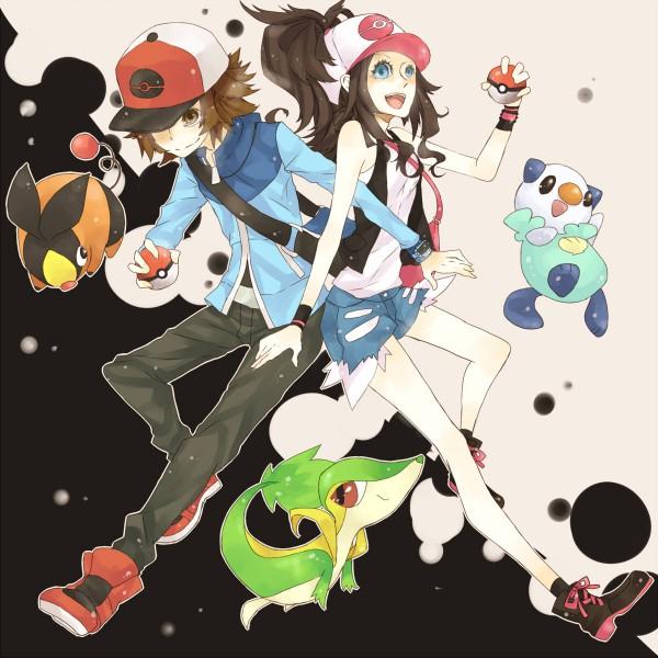 Tags: Anime, Pokémon, Touko (Pokémon), Touya (Pokémon), Snivy, Oshawott, Tepig