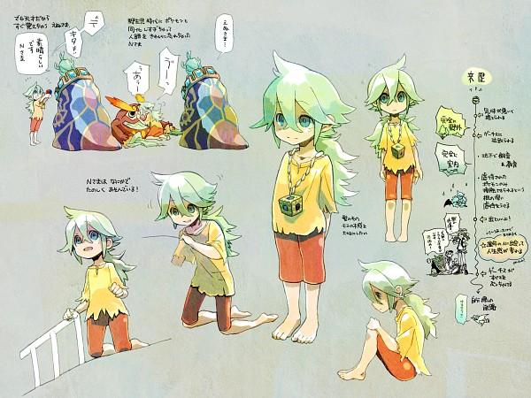 Tags: Anime, Pixiv Id 11911, Pokémon, Woobat, G-Cis Harmonia, Reshiram, Touko (Pokémon), Darmanitan, Zoroark, N (Pokémon), Pixiv, Fanart From Pixiv, Wallpaper