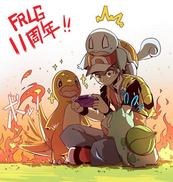 Tags: Anime, Pixiv Id 2827240, Pokémon, Bulbasaur, Charmander, Squirtle, Fire (Pokémon), Wagging Tail, Game Boy, Game Boy Advance, Fanart, Fanart From Pixiv, Pixiv