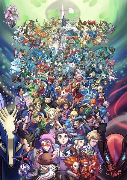 Tags: Anime, Pixiv Id 3512498, Pokémon, Bunnelby, Aegislash, Clawitzer, Banette, Calme (Pokémon), Doublade, Az, Dexio, Alakazam, Dedenne