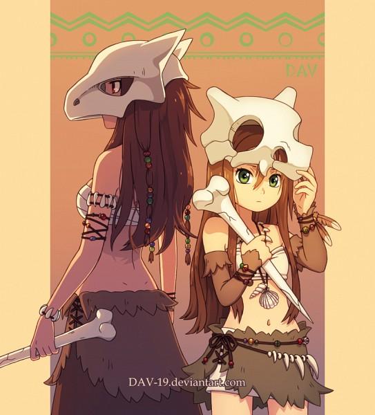 Tags: Anime, DAV-19, Pokémon, Cubone, Marowak, Brown Skirt, deviantART, Fanart From DeviantART, Fanart