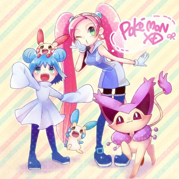 Tags: Anime, Mizoreame, Pokémon, Mana (Pokémon), Delcatty, Lovrina (Pokémon), Minun, Plusle, Fanart, Fanart From DeviantART, deviantART, PNG Conversion