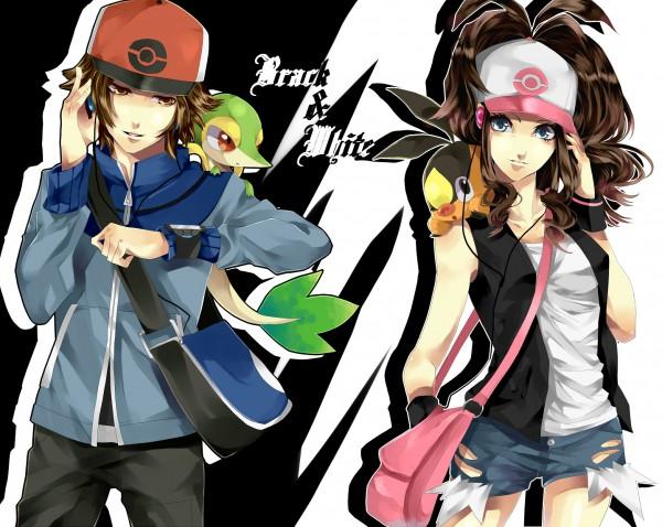 Tags: Anime, Hainegom, Pokémon, Tepig, Touko (Pokémon), Touya (Pokémon), Snivy