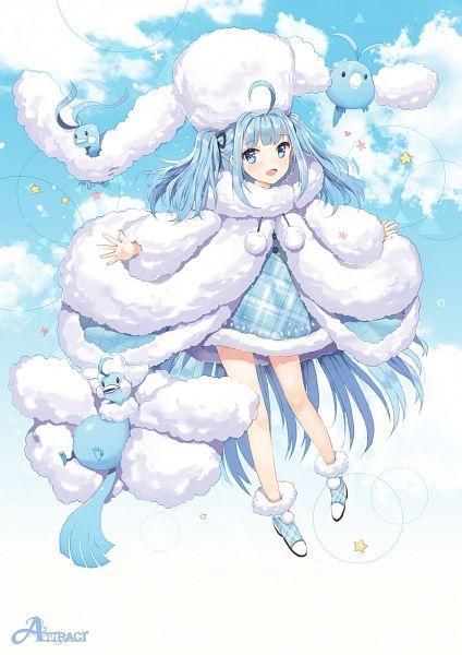 Tags: Anime, Dangmill, Pokémon, Altaria, Swablu, Mobile Wallpaper, Mega Form (Pokémon)