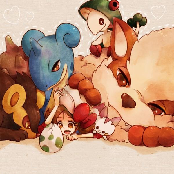 Tags: Anime, Poco24, Pokémon, Kotone (Pokémon), Breloom, Luxray, Lapras, Arcanine, Pachirisu, Hatching