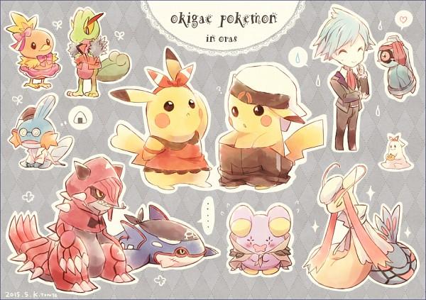 Tags: Anime, Kabocha Torute, Pokémon, Milotic, Groudon, Treecko, Pikachu, Torchic, Beldum, Kyogre, Tsuwabuki Daigo, Mudkip, Whismur
