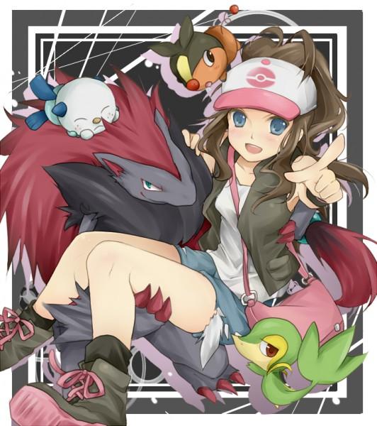 Tags: Anime, Pokémon, Touko (Pokémon), Zoroark, Snivy, Oshawott, Tepig
