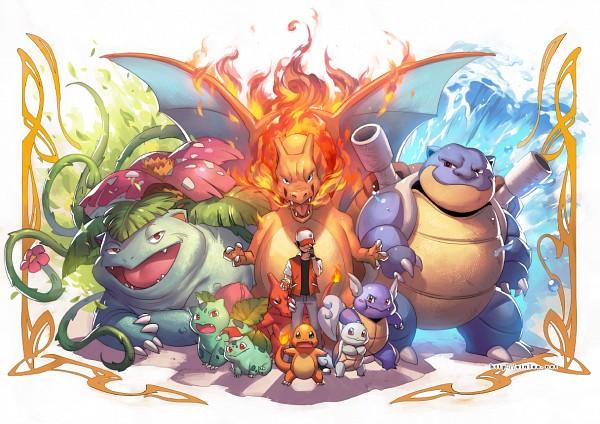 Tags: Anime, einlee, Pokémon, Ivysaur, Charmander, Charmeleon, Charizard, Squirtle, Wartortle, Bulbasaur, Blastoise, Venusaur, Red (Pokémon)