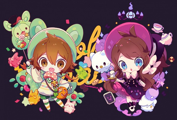 Tags: Anime, Welchino, Pokémon, Touko (Pokémon), Chandelure, Touya (Pokémon), Litwick, Pikachu, Oshawott, Reuniclus, Spotted Bow, Gothorita (Cosplay), Reuniclus (Cosplay)