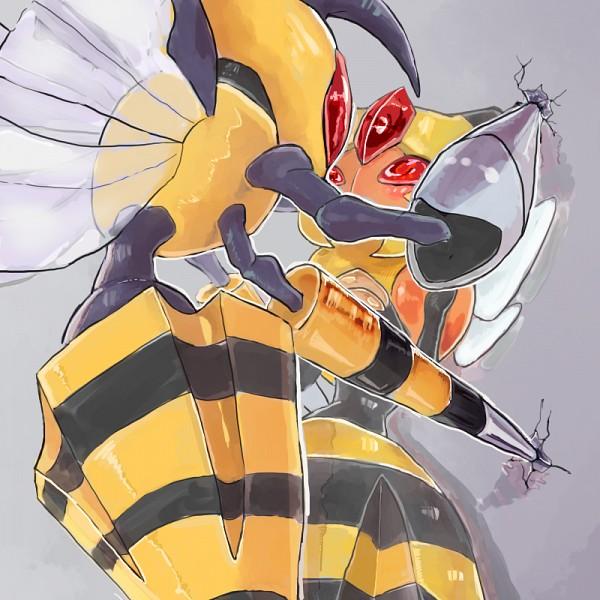 Tags: Anime, Pixiv Id 8080642, Pokémon, Vespiquen, Beedrill, Cicada Block, Fanart From Pixiv, Fanart, Mega Form (Pokémon), Pixiv