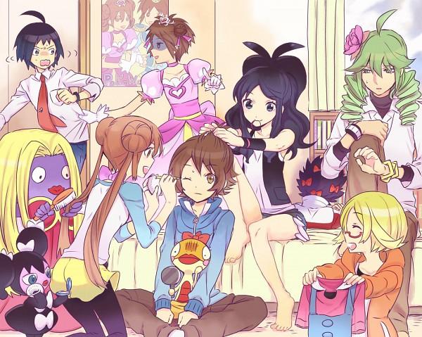 Tags: Anime, Kuronomine, Black and White 2, Pokémon, Scraggy, Cheren (Pokémon), Hue, N (Pokémon), Mei (Pokémon), Gothorita, Touko (Pokémon), Kyouhei, Jynx