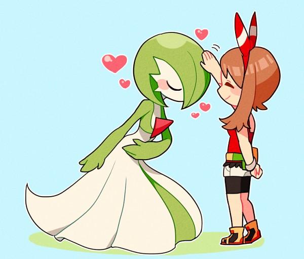 Tags: Anime, Nns146, Pokémon, Haruka (Pokémon), Gardevoir, Fanny Pack, Bowing, Caressing, Tight Clothes, PNG Conversion, Twitter, Fanart
