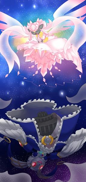 Tags: Anime, Pixiv Id 3385788, Pokémon, Diancie, Magearna, Walpurgis No Yoru (Cosplay), Ultimate Madoka (Cosplay), Mahou Shoujo Madoka☆Magica (Parody), Pixiv, Legendary Pokémon