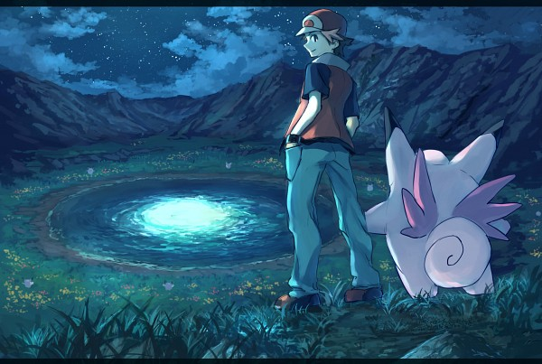 Tags: Anime, Pixiv Id 1922055, Pokémon, Clefable, Red (Pokémon FireRed and LeafGreen), Pixiv, Fanart From Pixiv, Fanart