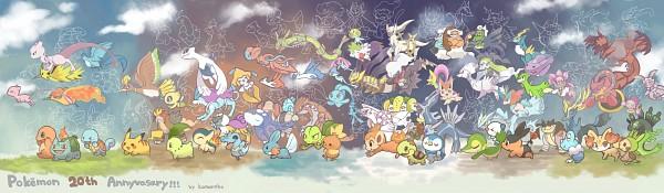 Tags: Anime, Pixiv Id 702880, Pokémon, Bulbasaur, Mewtwo, Mesprit, Diancie, Meganium, Articuno, Pignite, Empoleon, Palkia, Cobalion