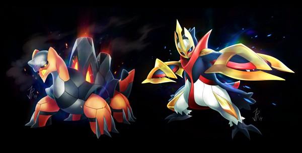 Tags: Anime, Cat-meff, Pokémon, Torkoal, Empoleon, Mega Form (Pokémon), Tumblr, Fanart, PNG Conversion