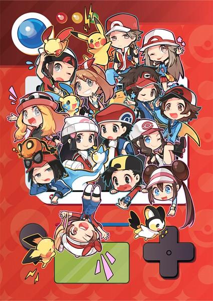 Tags: Anime, Pixiv Id 842378, Pokémon, Pichu, Touya (Pokémon), Leaf (Pokémon), Plusle, Calme (Pokémon), Pikachu, Yuuki (Pokémon), Kotone (Pokémon), Kyouhei, Mei (Pokémon)