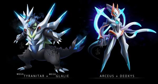 Tags: Anime, Cat-meff, Pokémon, Arceus, Glalie, Deoxys, Tyranitar, Character Fusion, PNG Conversion, Mega Form (Pokémon), Legendary Pokémon, Fanart, Tumblr