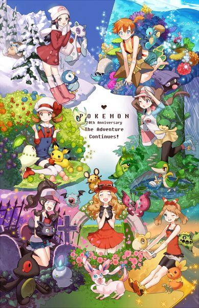 Tags: Anime, Kissai, Pokémon, Horsea, Woobat, Numel, Dedenne, Cacnea, Shellder, Mei (Pokémon), Haruka (Pokémon), Touko (Pokémon), Swadloon