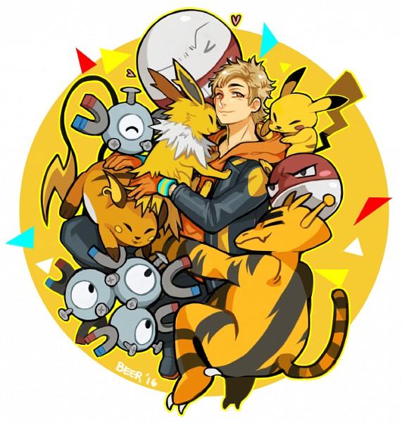 Tags: Anime, Pixiv Id 1018306, Pokémon, Pikachu, Electabuzz, Raichu, Voltorb, Magnemite, Spark (Pokémon GO), Magneton, Jolteon, Electrode, Fanart From Pixiv