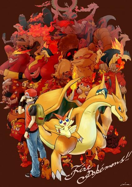 Tags: Anime, Pixiv Id 15871673, Pokémon, Growlithe, Magcargo, Combusken, Heatmor, Entei, Darumaka, Charizard, Simisear, Torchic, Magby