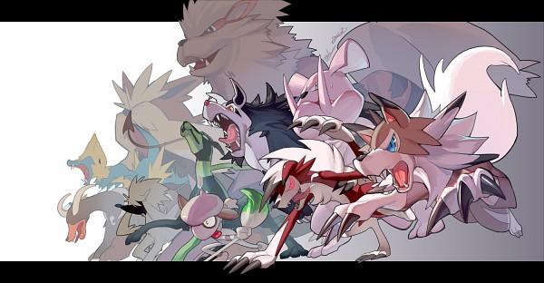 Tags: Anime, Evolution (Pixiv5555486), Pokémon, Zygarde, Manectric, Mightyena, Furfrou, Smeargle, Lycanroc, Stoutland, Houndoom, Granbull, Arcanine