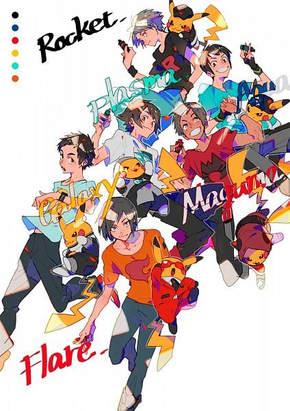 Tags: Anime, Yuuichi Bobobo, Pokémon, Kouki (Pokémon), Calme (Pokémon), Pikachu, Fire (Pokémon), Touya (Pokémon), Yuuki (Pokémon), Team Aqua (Cosplay), Pokémon (Cosplay), Plasma-dan Shitappa (Cosplay), Team Rocket (Cosplay)
