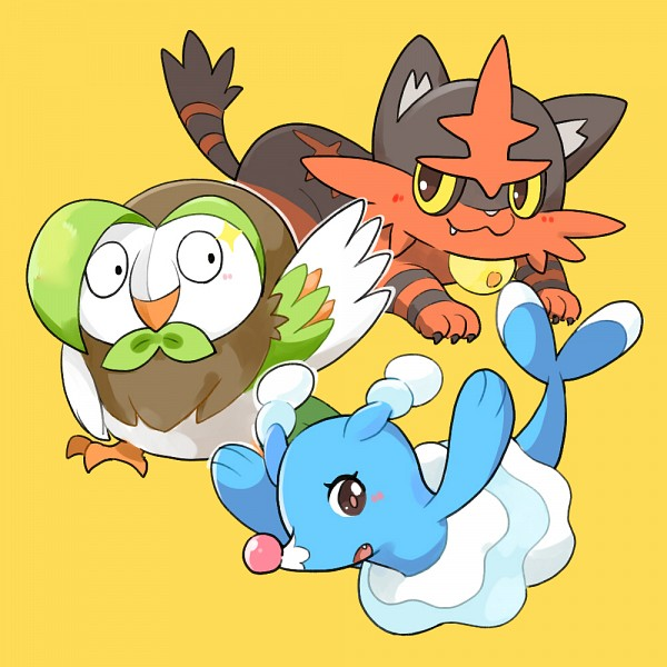 Tags: Anime, Pixiv Id 2843734, Pokémon, Torracat, Dartrix, Brionne, Fanart, Fanart From Pixiv, Pixiv
