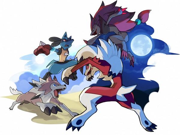 Tags: Anime, Nganlamsong, Pokémon, Lycanroc, Lucario, Zoroark, Fanart From DeviantART, Fanart, deviantART