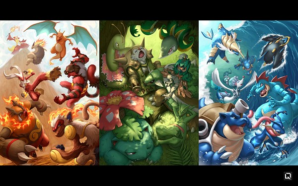 Tags: Anime, Quirkilicious, Pokémon, Sceptile, Greninja, Meganium, Samurott, Primarina, Empoleon, Delphox, Feraligatr, Serperior, Incineroar