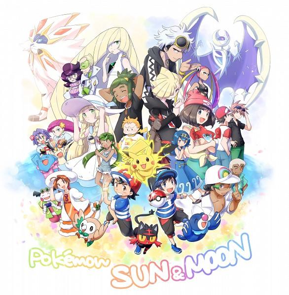Tags: Anime, Pixiv Id 657258, Pokémon (Anime), Pokémon Sun & Moon, Pokémon, Lusamine, Pikachu, Popplio, Mao (Pokémon), Musashi (Pokémon), Hanako (Pokémon), Solgaleo, Purumeri