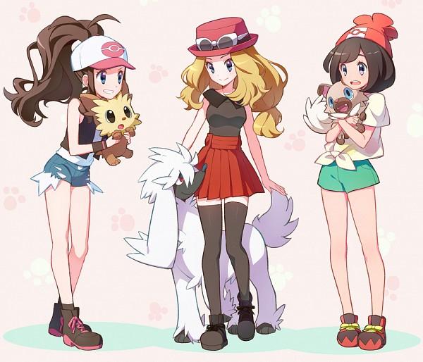 Tags: Anime, Kurochiroko, Pokémon Black & White, Pokémon Sun & Moon, Pokémon X & Y, Pokémon, Furfrou, Touko (Pokémon), Serena (Pokémon), Lillipup, Rockruff, Mizuki (Pokémon), Pixiv